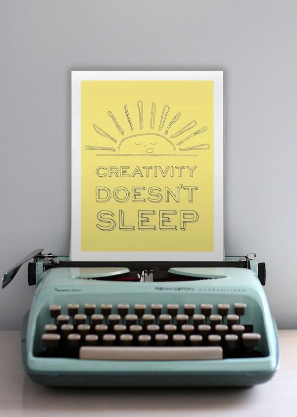 creativity doesnt sleep
