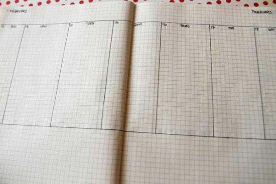 the weekly view pages are what makes up most of my diy moleskine planner they have a large space for every day to do lists appointments and projects that