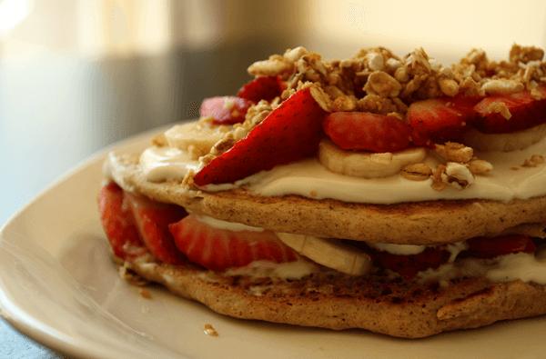 Whole Wheat Pancake Parfait