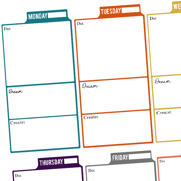 Free printable planner design kyla roma for Make a planner free