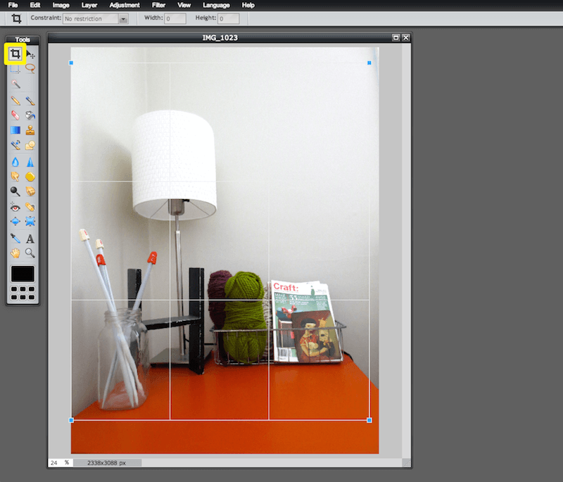 Image editing for bloggers - How to Crop An Image online for free