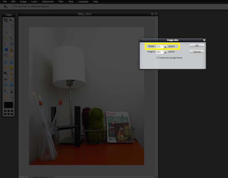 Image editing for bloggers - How to resize an Image online for free