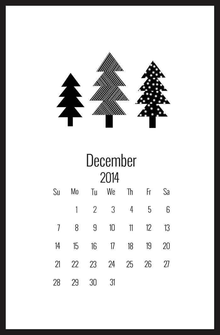 desk calendar printable