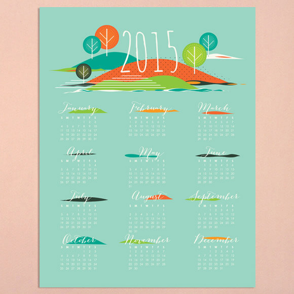 Free Printable 2015 Desk Calendars for Creative Types