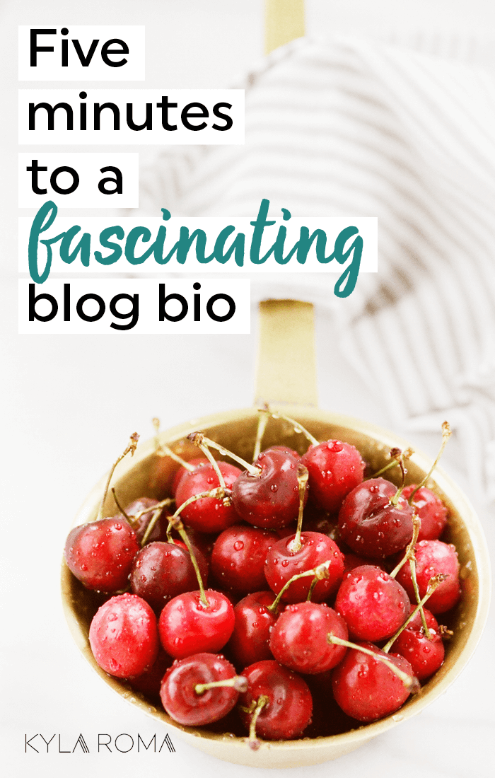Grab this fill-in-the-blank guide to a fascinating blog bio (that actually stands out!) in five minutes. Are you making the most of your Pinterest bio, Instagram bio or the bio in your blog sidebar? Did you know you could be using it to build your brand and SEO? Fascinate potential readers and customers with a juicy new description of what makes you and your work unique. Grab the workbook, a timer and get going!