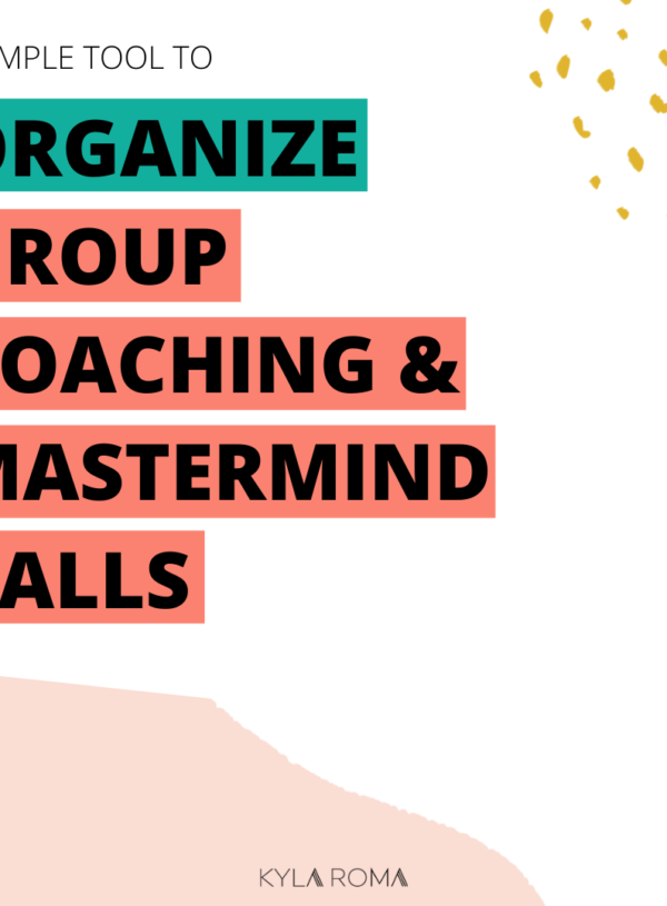 A simple tool to organize group coaching and mastermind calls