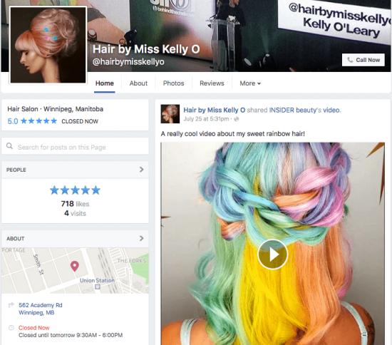 Rainbow hair by Kelly O in Winnipeg Manitoba
