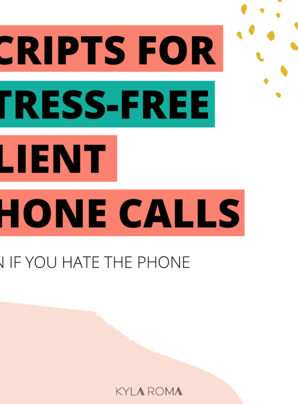 Scripts to make customer phone calls simple and stress-free