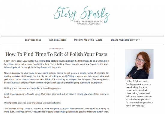 Story sparks - copywriter for business owners