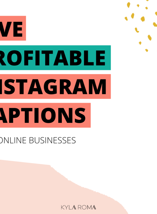 5 profitable Instagram captions for online businesses