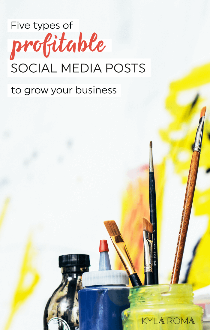 It's hard to know if social media is going to help grow your business, or eat up all your spare time. Use these five types of profitable social media posts to stay on track and make sure your following really grows your business.