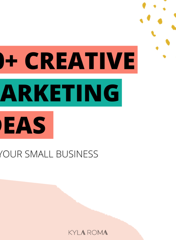 20+ creative marketing ideas for your small business