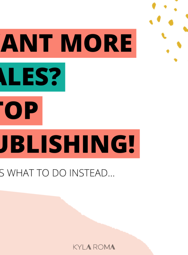 Publishing ≠ marketing