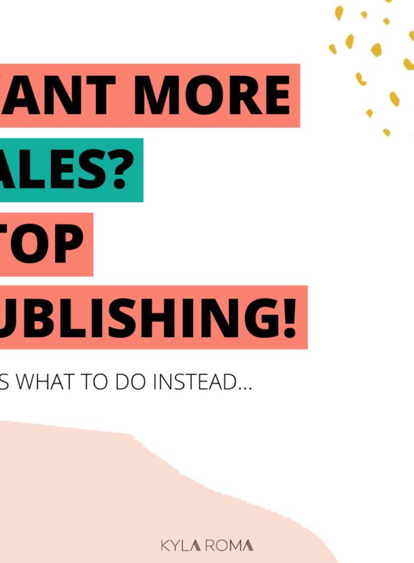 Publishing ≠ marketing