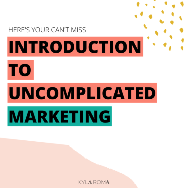 Introduction to Uncomplicated Marketing